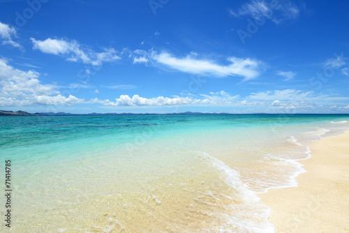 Stampa su Tela  美しい沖縄のビーチと夏空