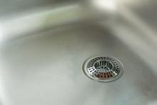 Sink With Chrome Drain Straine...