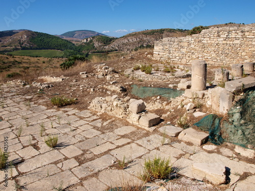 Fotografie, Obraz  Ruins of agora, Segesta, Sicily, Italy