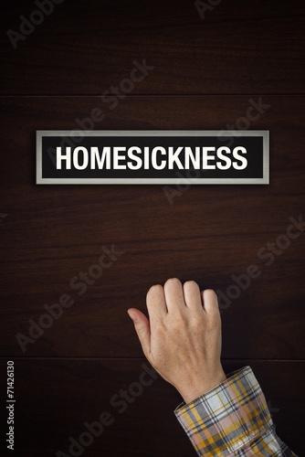 Fotografia, Obraz  Hand is knocking on Homesickness door