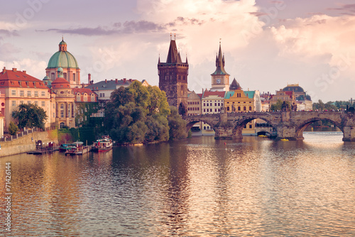 Photo Charles Bridge in Prague, Czech Republic