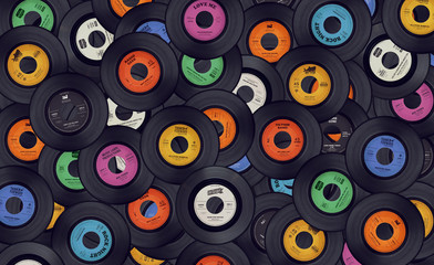 FototapetaVinyl records music background