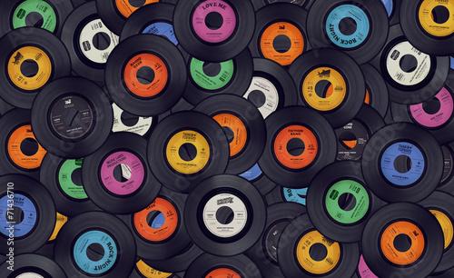 Fotografía  Vinyl records music background