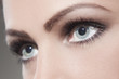 canvas print picture - Beautiful woman eye close up