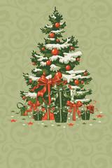 FototapetaVintage Christmas card