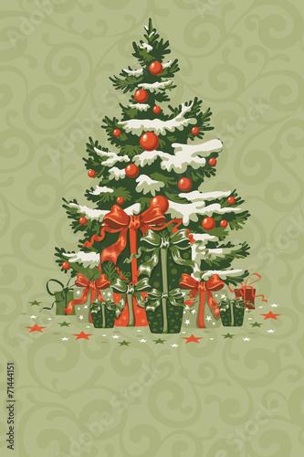 Vintage Christmas card - 71444151