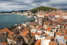 Panorama Sur La Vieille Ville De Split