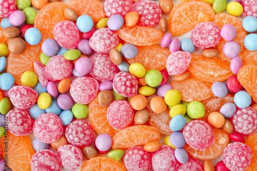 fototapeta na szkło Słodkie cukierki wielokolorowe