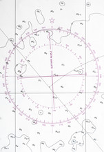 Navigation Chart Fragment With Compass Deviation Symbol