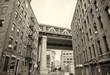 View of Manhattan Bridge on a overcast spring day - New York Cit