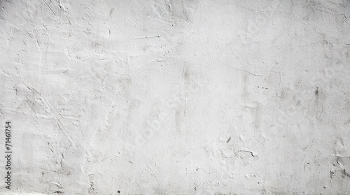 Photo sur Toile Beton White concrete wall background texture with plaster