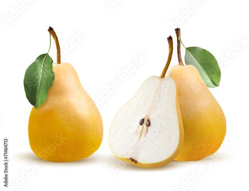 Pears bartlett isolated on white background Wallpaper Mural