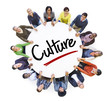 Leinwanddruck Bild - Diverse People in a Circle with Culture Concept