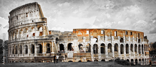 Stampa su Tela Great Rome, panorama of Colosseum
