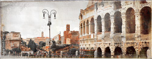 Poster Rome great antique Rome - vintage picture