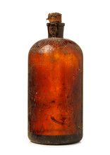 Vintage Dirty Bottle With Natu...