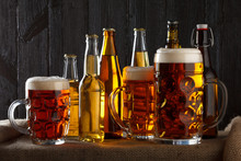 Assortment Of Beer Glasses On ...