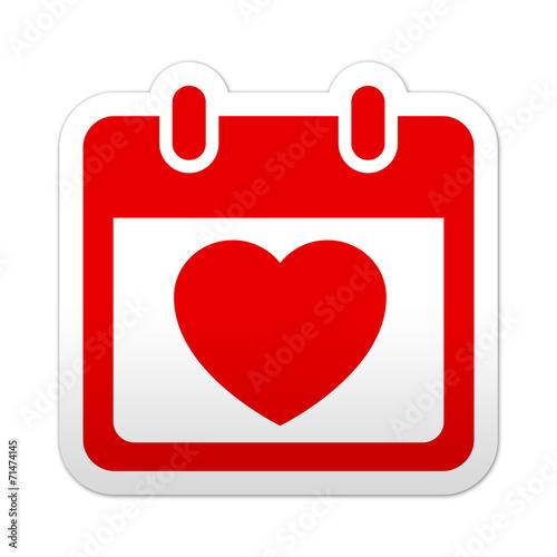 Simbolo De Calendario.Pegatina Simbolo Calendario San Valentin Buy This Stock