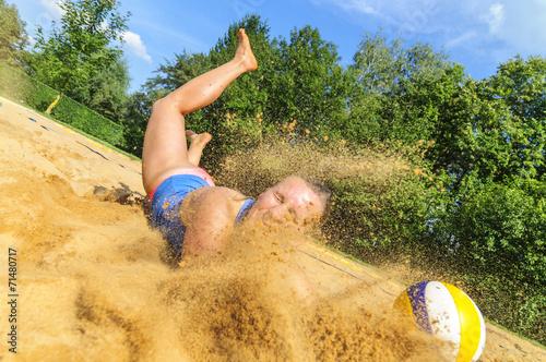 Photo  kompromißloser Einsatz beim Beachvolleyball
