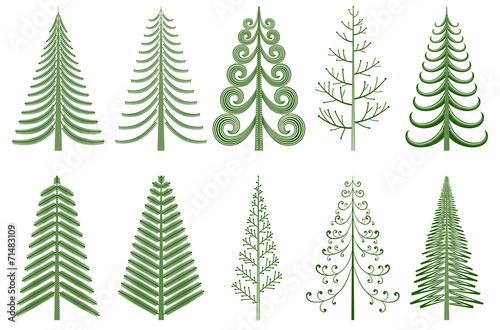 Fototapeta Abstract pine trees