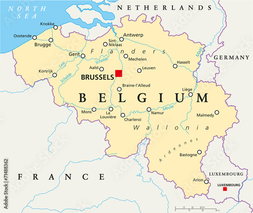 Photo Belgium Political Map