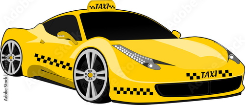 Taxi deportivo amarillo