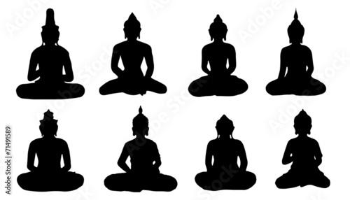 Cuadros en Lienzo buddha silhouettes