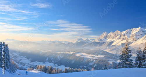 Papiers peints Alpes Mountain landscape. Schladming. Austria
