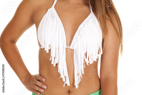 Fotografie, Obraz  close up white fringe top