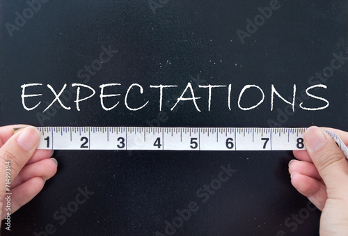 Fototapeta Measuring expectations