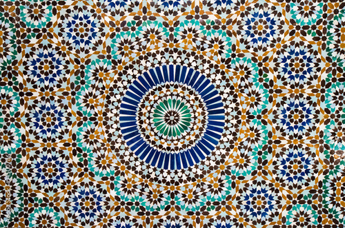 moroccan vintage tile background Poster Mural XXL
