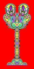 unusual stylized decorative tree, eco concept, karakoko style, v