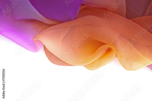 Fotografie, Obraz  Chiffon of silk. Evanescent texture.