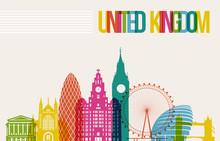 Travel United Kingdom Destination Landmarks Skyline Background