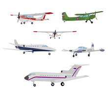 Airplanes Illustration - Vector