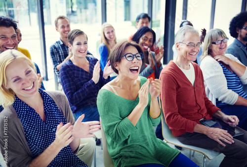 Group of People in Seminar Fotobehang