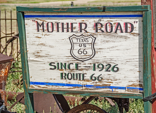 Fotografia, Obraz  Mother Road Sign