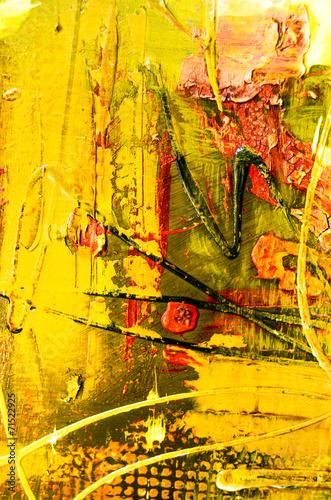 Farben Malerei abstrakt Struktur gelb