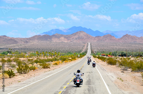 Poster Route 66 moto route 66