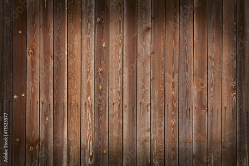 Fototapeta Wall of wooden boards with vignette. Can be used as background. obraz na płótnie