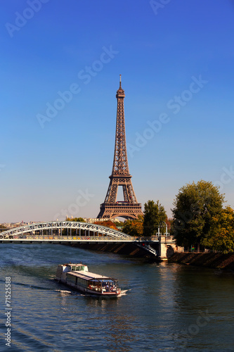 Fototapety, obrazy: View on Eiffel Tower in the day, Paris, France