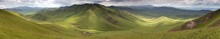 Panaramic View Of Green Mounta...
