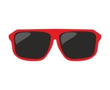 Red Sunglasses Vector Illustra...