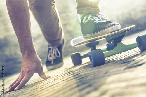 skateboarder riding skateboard
