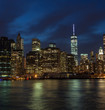 New York city skyline night shot