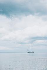 Fototapeta Morze яхта в море