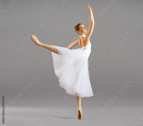 Canvas Print ballerina  in ballet pose classical dance