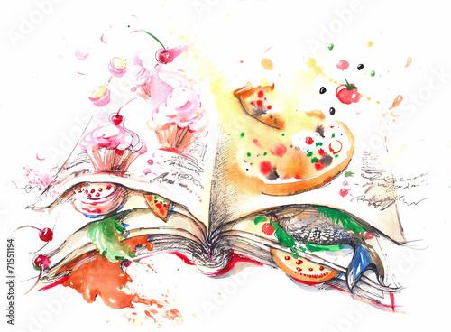 Foto auf Leinwand Gemälde culinary