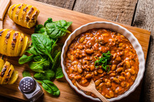 Spicy Cowboy Beans With Hassle...