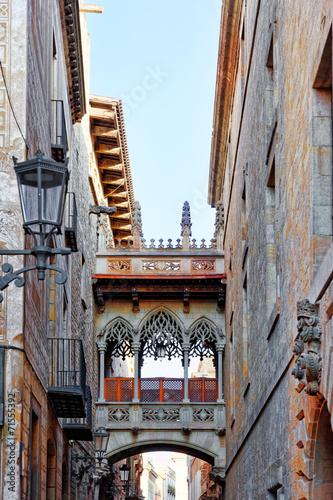 Fototapety, obrazy: Gothic Quarter in the heart of Barcelona.Catalonia.Spain.